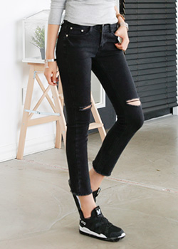 488693 - Ribdin Straight Denim Pants