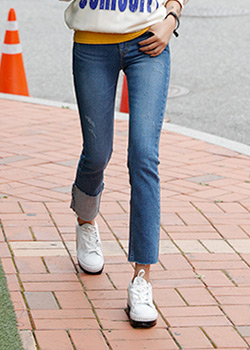 488746 - Point One roll-up denim pants